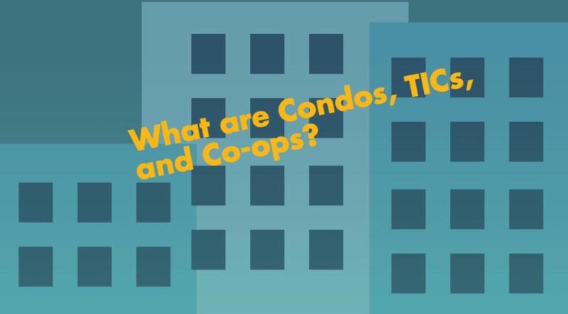 Diff betw condos tics coops Infographic
